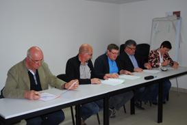 Signature de la convention de partenariat entre BOVINEO, COVIA et TER'ELEVAGE et la MSA.